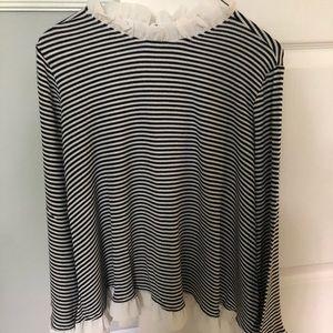 striped flowy top